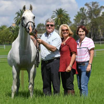 Jane, Julie & Greg with TS AL MALIK