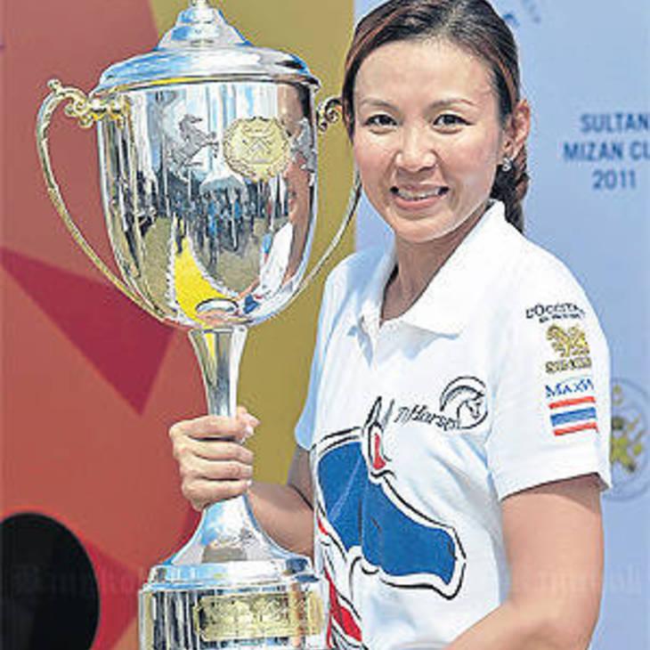 Wipawan Pawitayalarp winning the Sultan Mirzan Cup