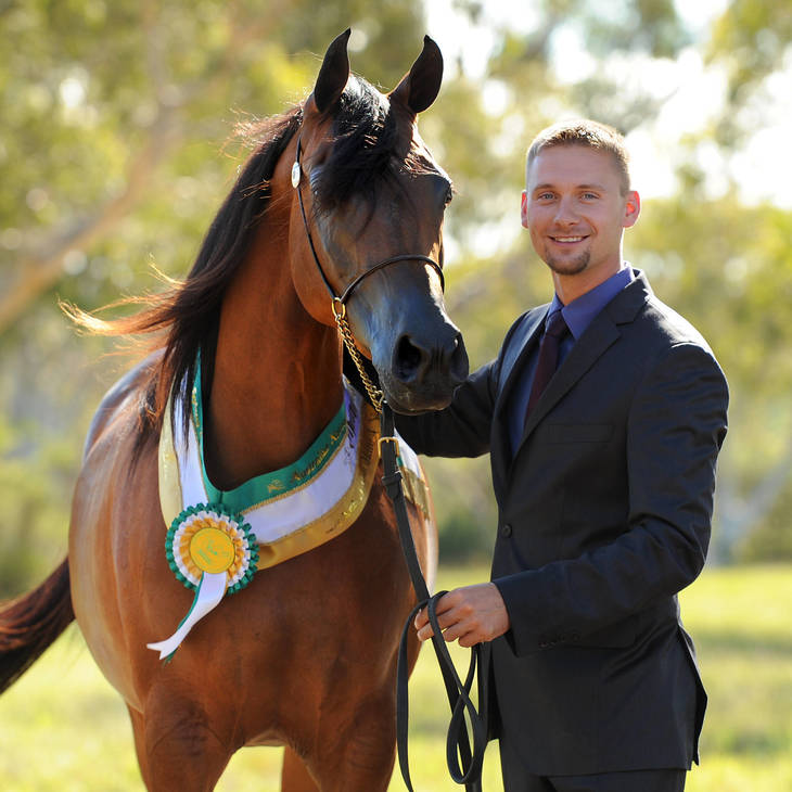 Australian National Champion MULAWA ASPIRING with Mariusz Lipa