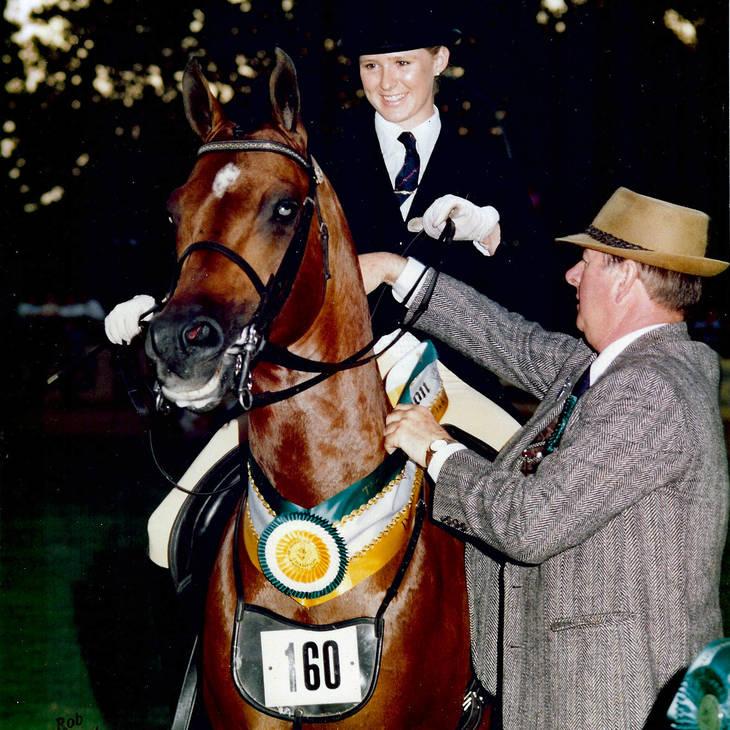APPLAUSE & Karen Pet winning AANC Ridden Stallion