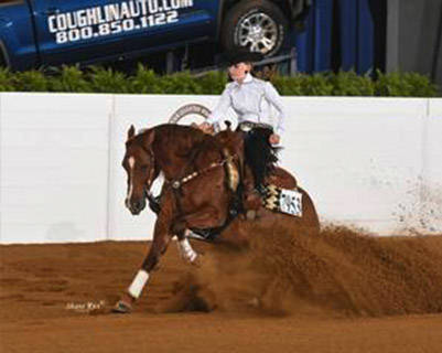 Emilia Reutimann & Black Hails Gold win 2017 Congress AQHA Level 1 Youth Reining!