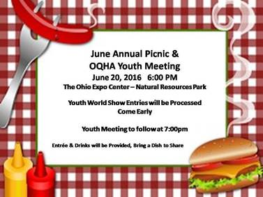 June Annual Picnic & OQHYA Meeting