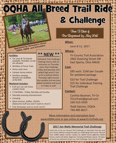 2017 OQHA ALL BREED TRAIL RIDE & CHALLENGE