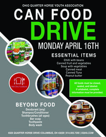 OQHYA Can Food Drive