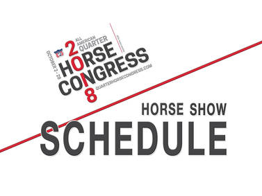 2018 All American Quarter Horse Congress Horse Show Schedule Released