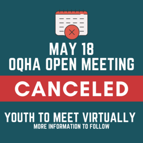 May OQHA Open Meeting Canceled - Amateurs & Youth to Meet Virtually