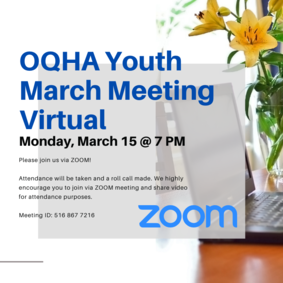 OQHYA March Virtual Meeting - Monday, March 15 @ 7 PM