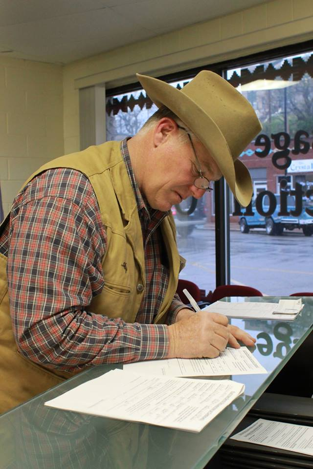 Hank Hainzinger is the thirteenth Osage tribal member to file candidacy