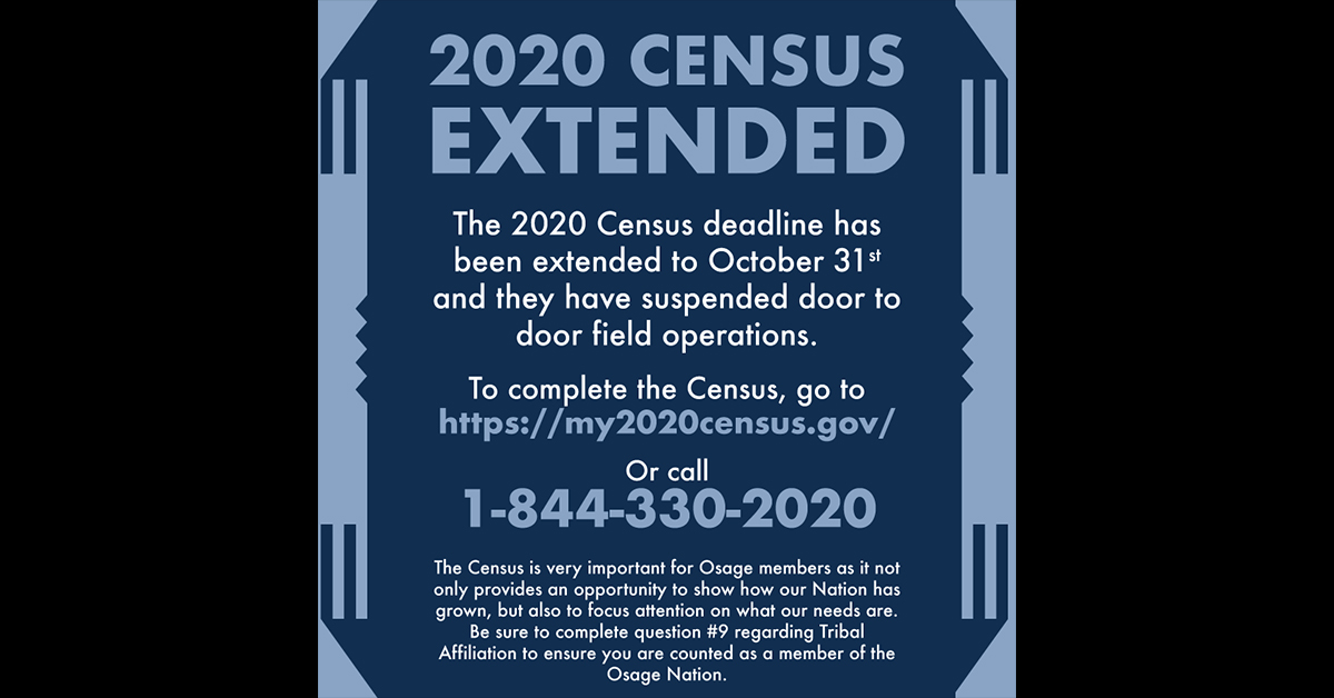 2020 Census self-response deadline extended to Oct. 31