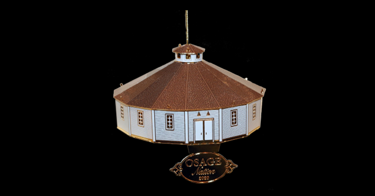 Osage Foundation selling 2020 miniature roundhouse Christmas ornament