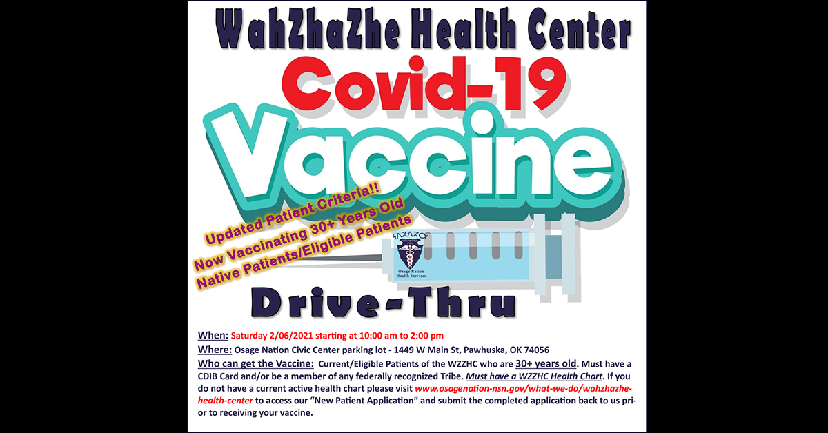 WZZHC hosting second COVID-19 vaccination event for patients age 30 and older