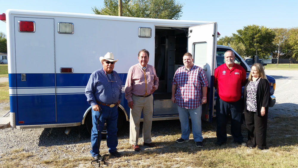 Osage Nation donates ambulance for EMS coverage in Barnsdall