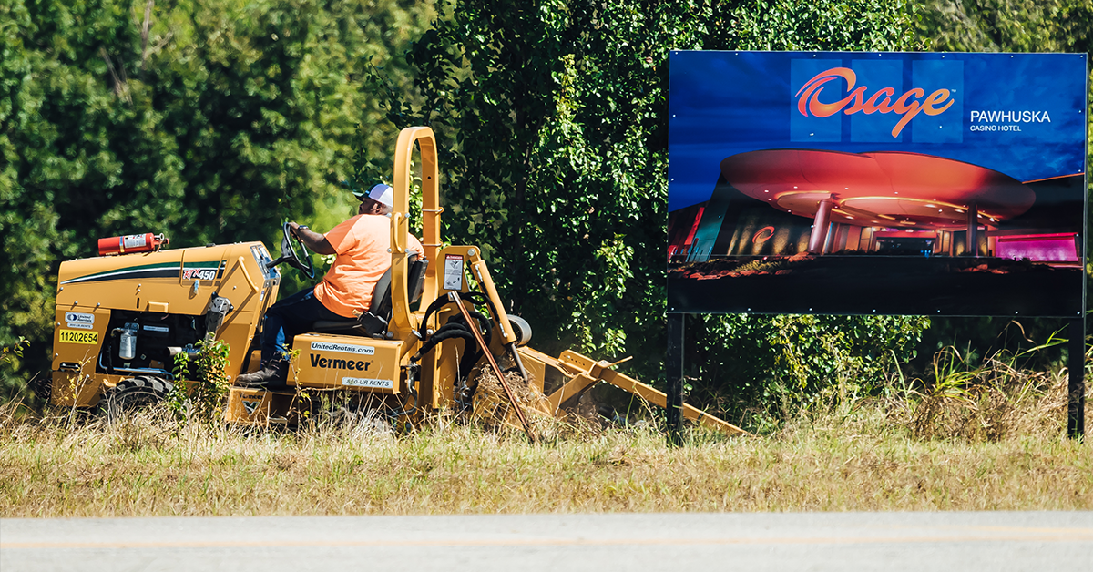 Groundwork begins at the new Bartlesville, Pawhuska Osage Casino locations