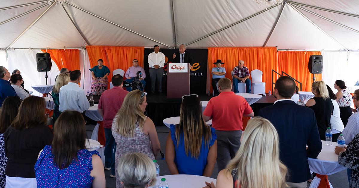 Osage Nation officials, Pawhuska community break ground on Osage Casino Hotel project