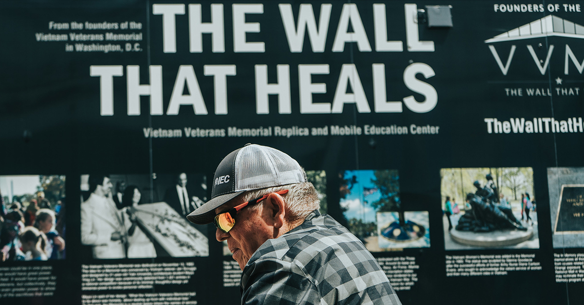 Osage veterans ride in motorcade for 'The Wall That Heals'