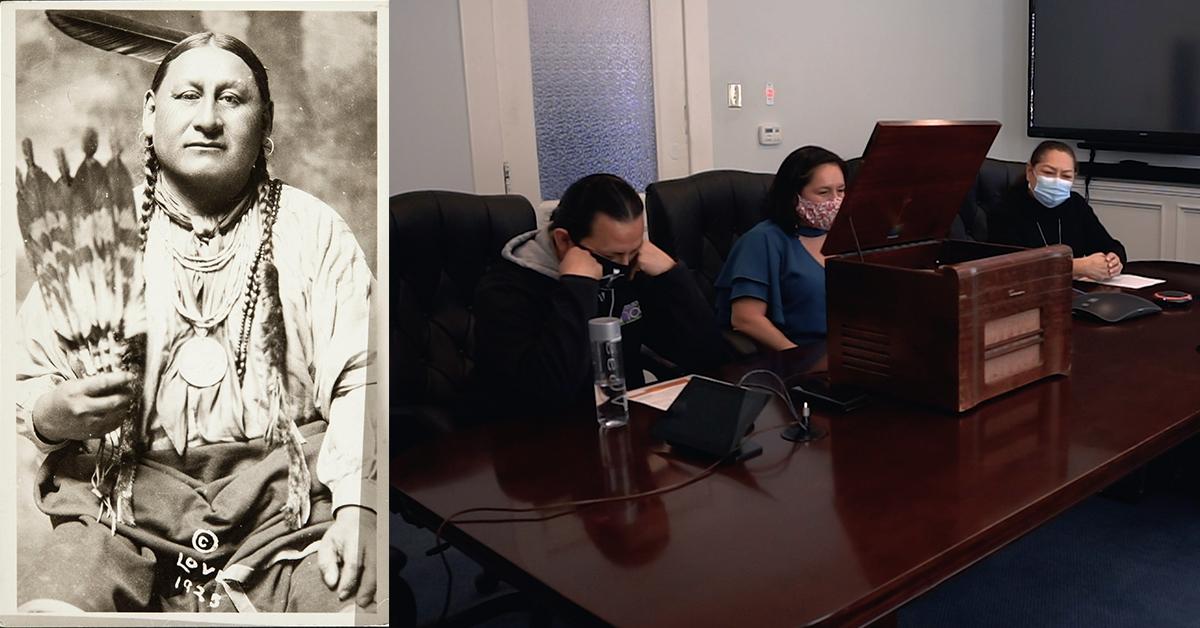 Kansas couple donates historical recording of Henry Pratt to the Osage Nation Museum