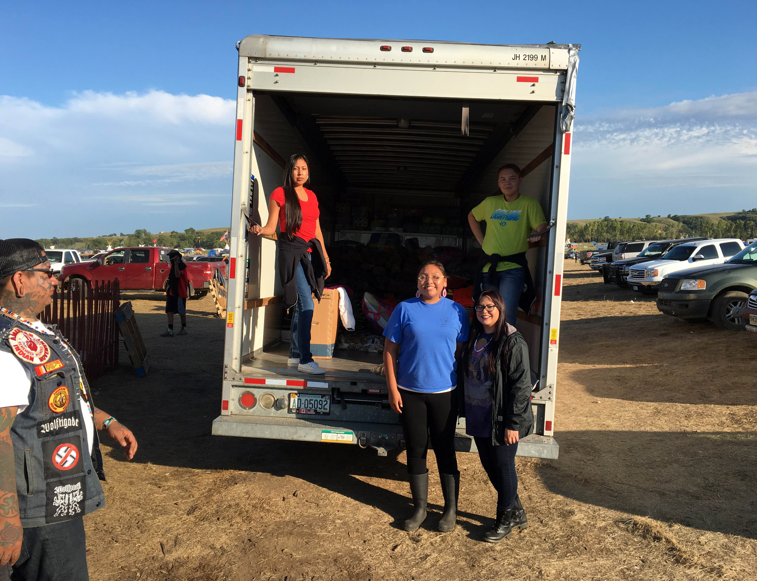 Osage delegation delivers supplies to Sacred Stone Camp on Standing Rock Reservation