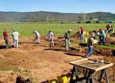 Osages participate in Carden Bottoms excavation in western Arkansas