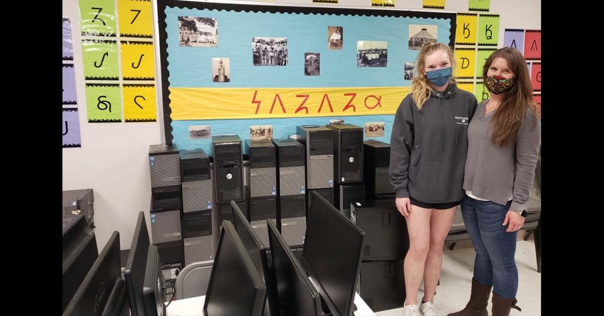 Education Department gives away refurbished desktop computers