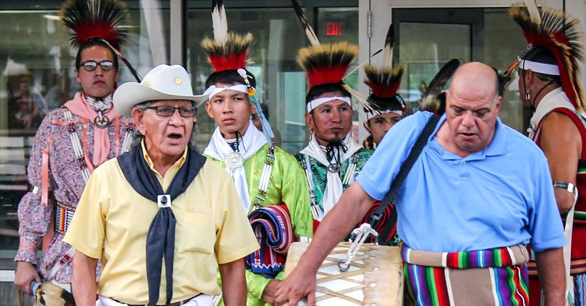 Osages gather for Hominy Inlonshka