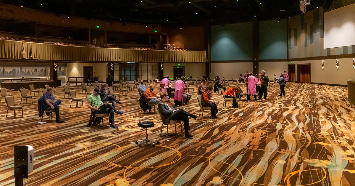 Osage Casinos and WZZHC hold COVID-19 vaccine event for casino employees, more Natives