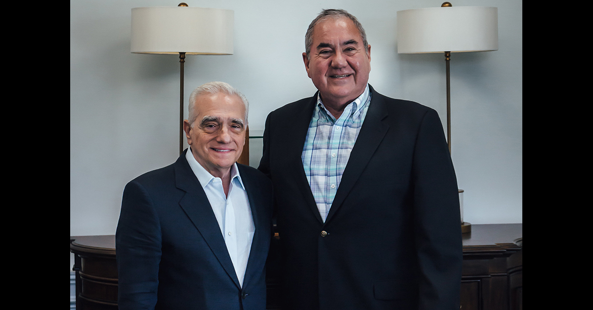 Martin Scorsese meets with Chief Standing Bear about 'Killers of the Flower Moon'
