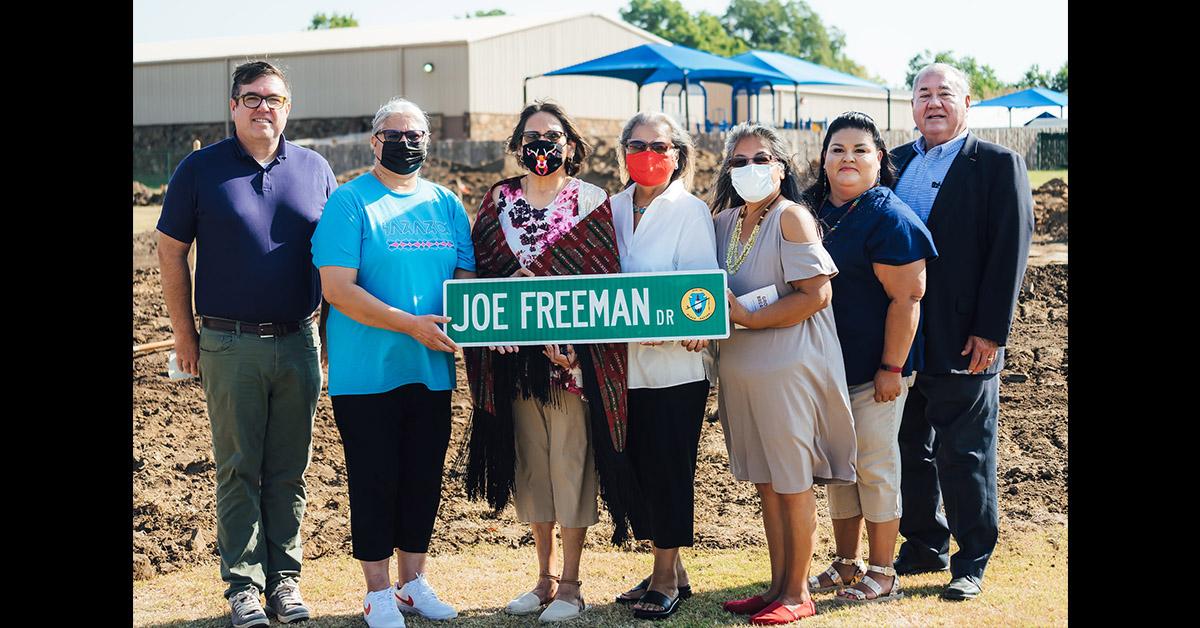 Nation breaks ground on Pawhuska senior housing addition, honors the late Joe Freeman