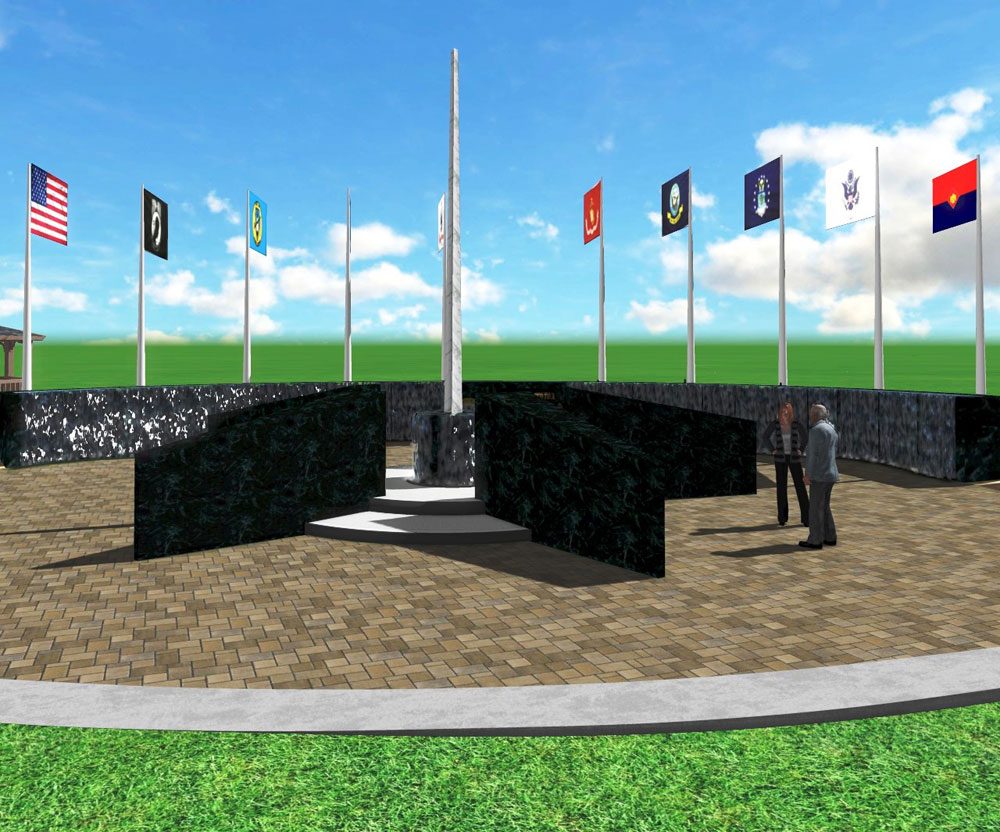 Veterans Memorial Commission negotiating with company for memorial construction