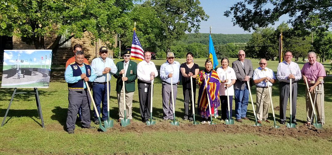 Osage officials and military veterans break ground on Veterans Memorial