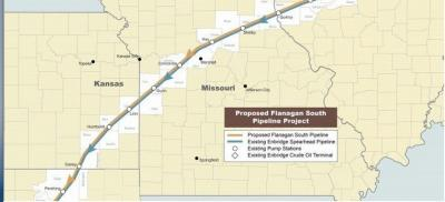 Pipeline giant Enbridge Inc. interested in leasing land from Osage Nation
