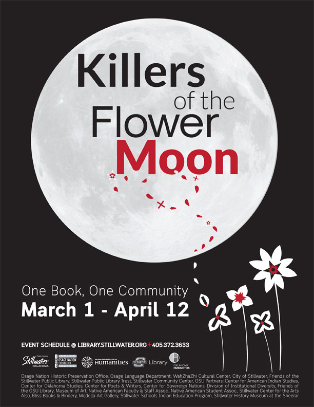 """Stillwater Public Library showcasing """"Killers of the Flower Moon"""" with Osage events and discussions"""