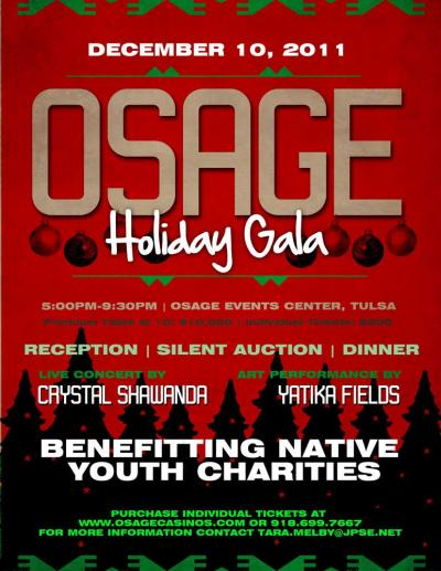 Osage Holiday Gala to benefit Osage youth is canceled