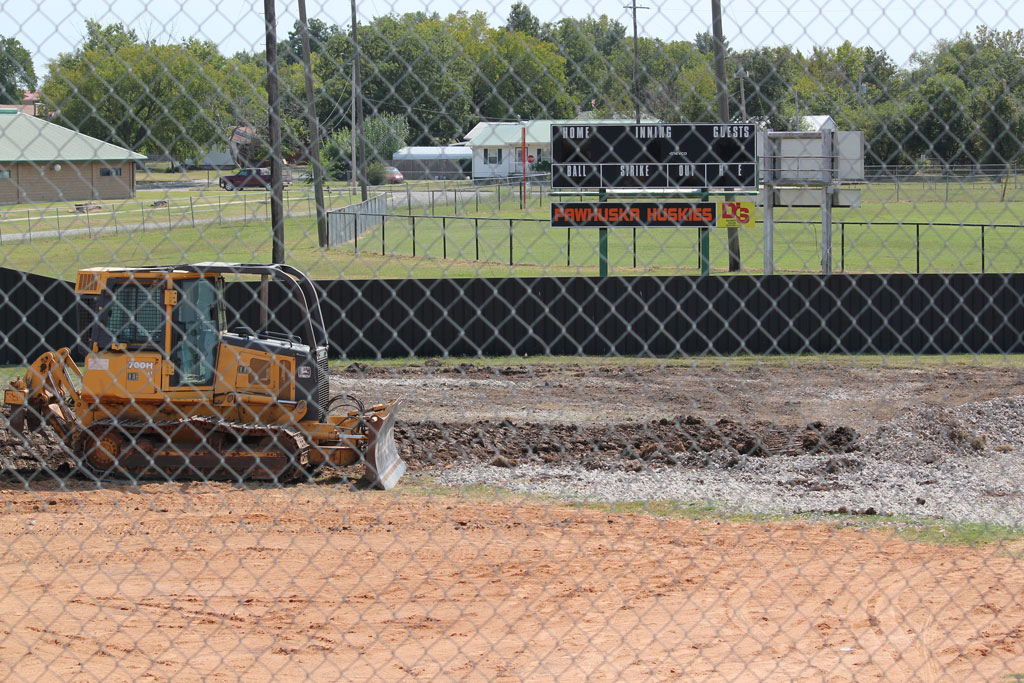 Seeping gas well on Pawhuska Softball field plugged; site restoration begins