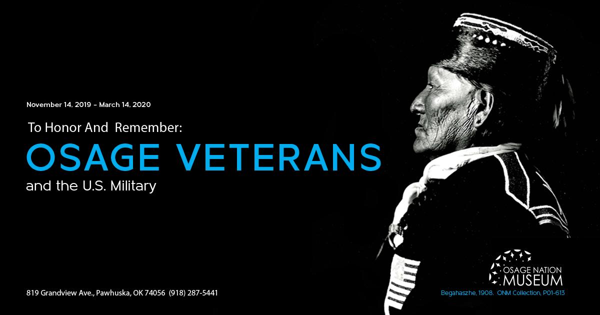 Osage Nation Museum exhibit honoring Osage veterans opens Nov. 14