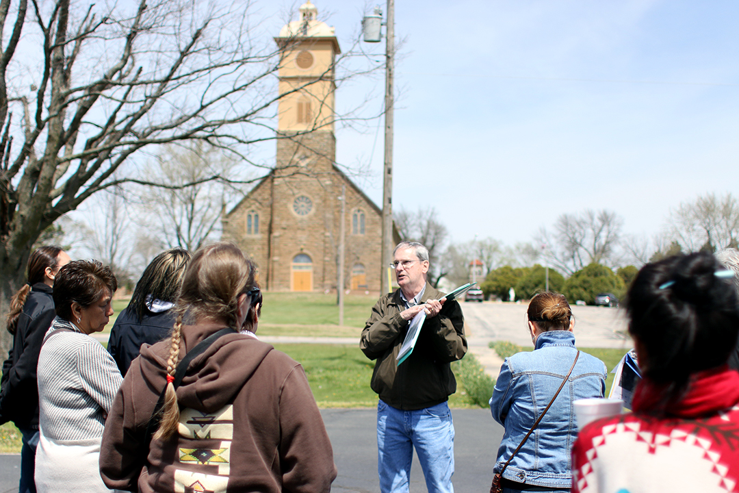 Participants end Osage Heritage Sites Visit at Osage Mission