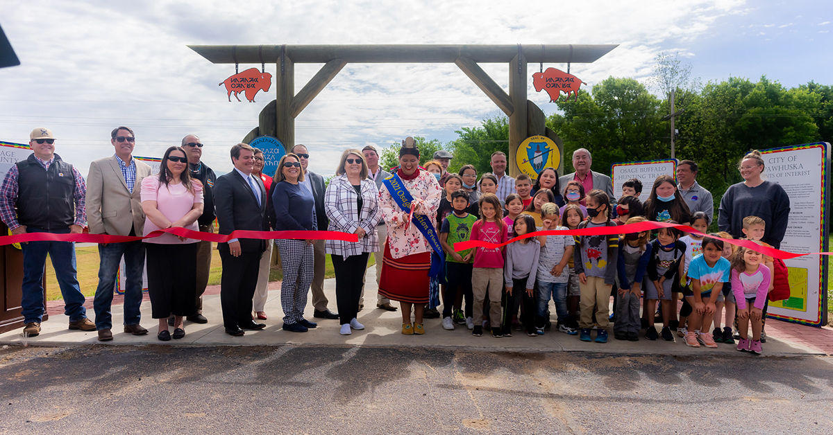 Wahzhazhe Heritage Trails opens to the public with ribbon-cutting ceremony