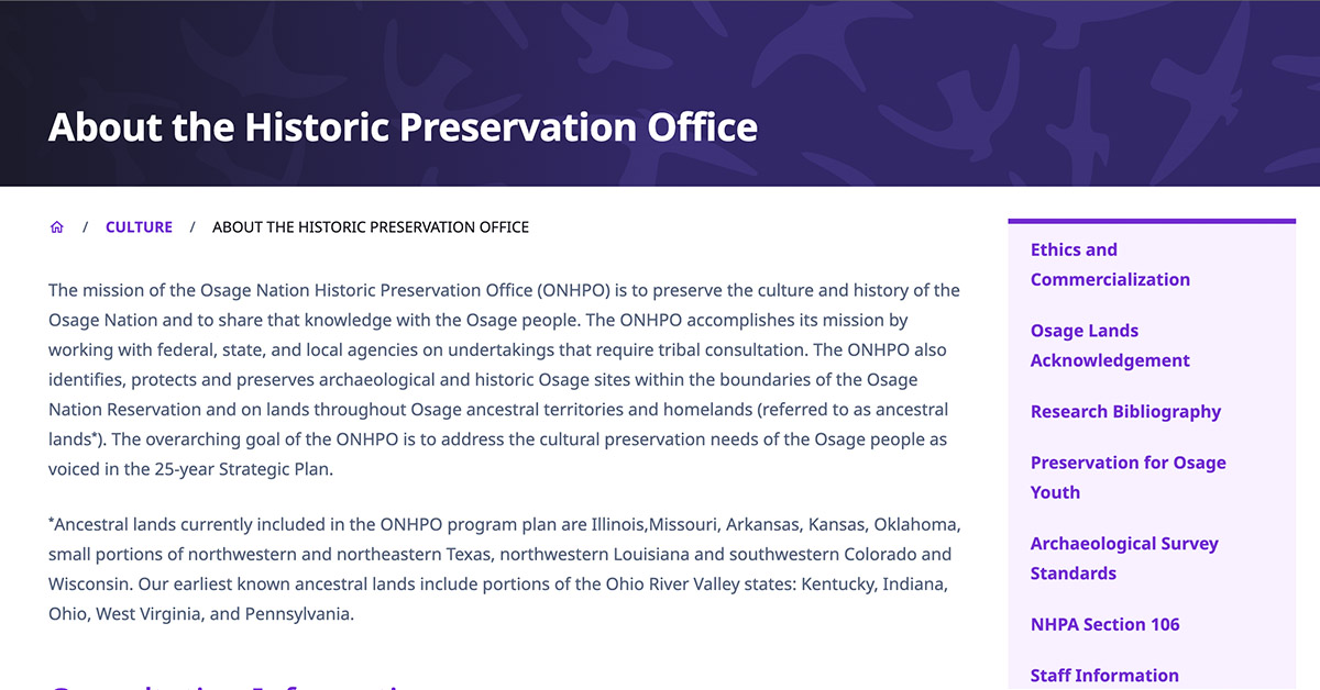 Osage Nation to form Register of Historic Places