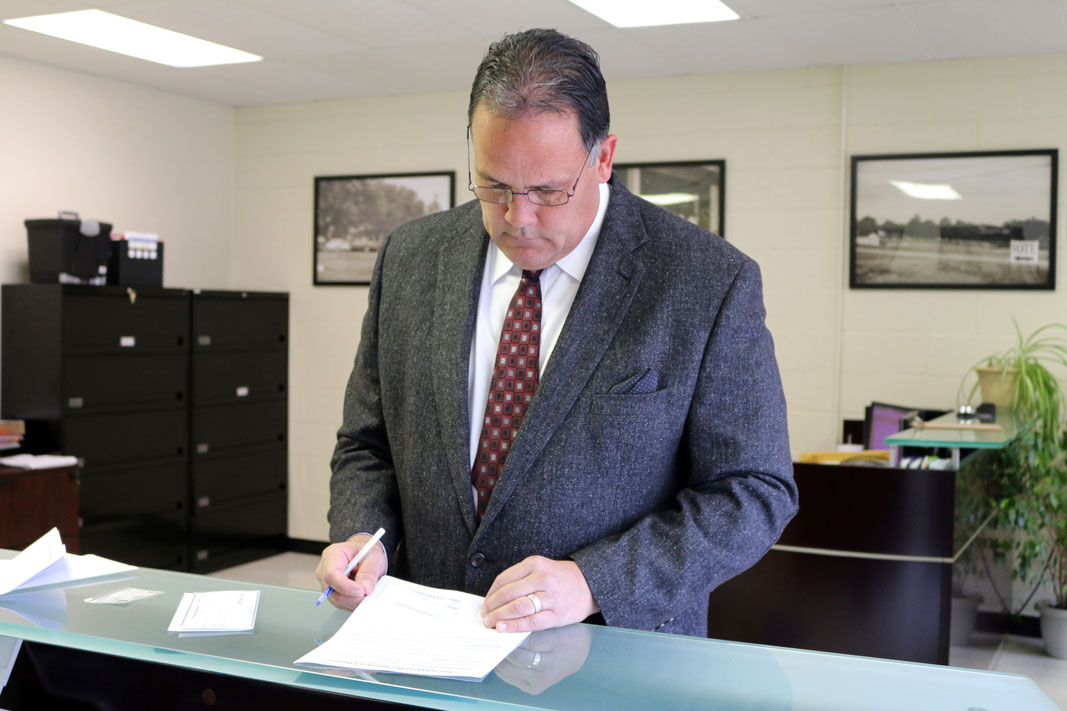 Joseph Tillman files his candidacy for the Fifth Osage Nation Congress
