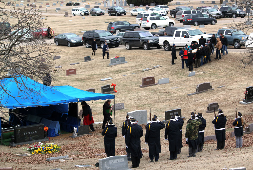 Osage leader Mark Freeman Jr. is laid to rest in Pawhuska