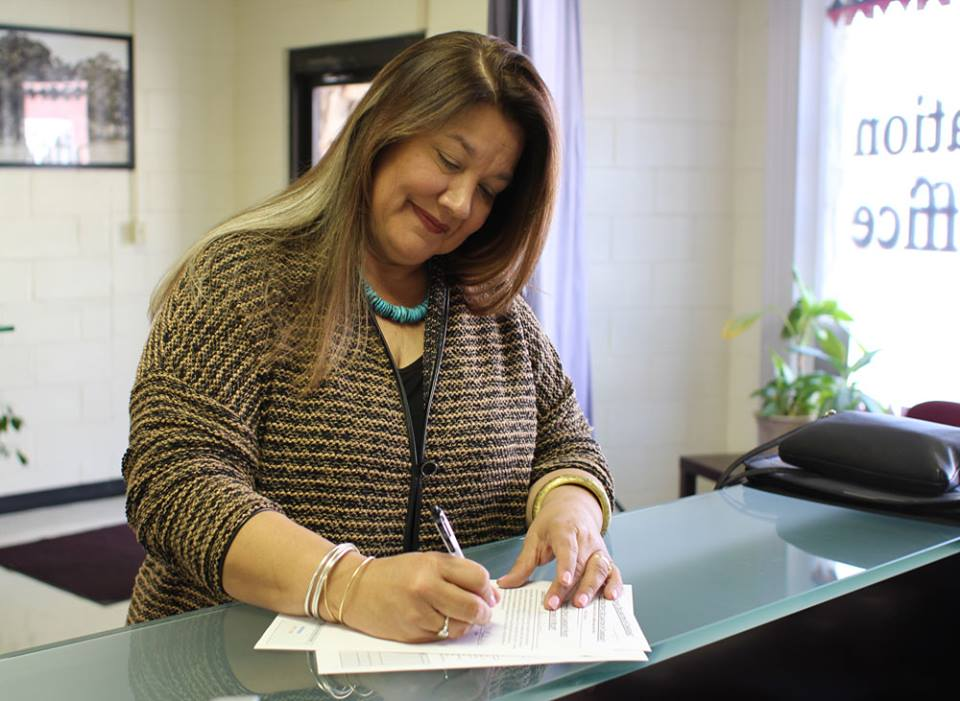 Incumbent Maria Whitehorn is seventh tribal member to file candidacy