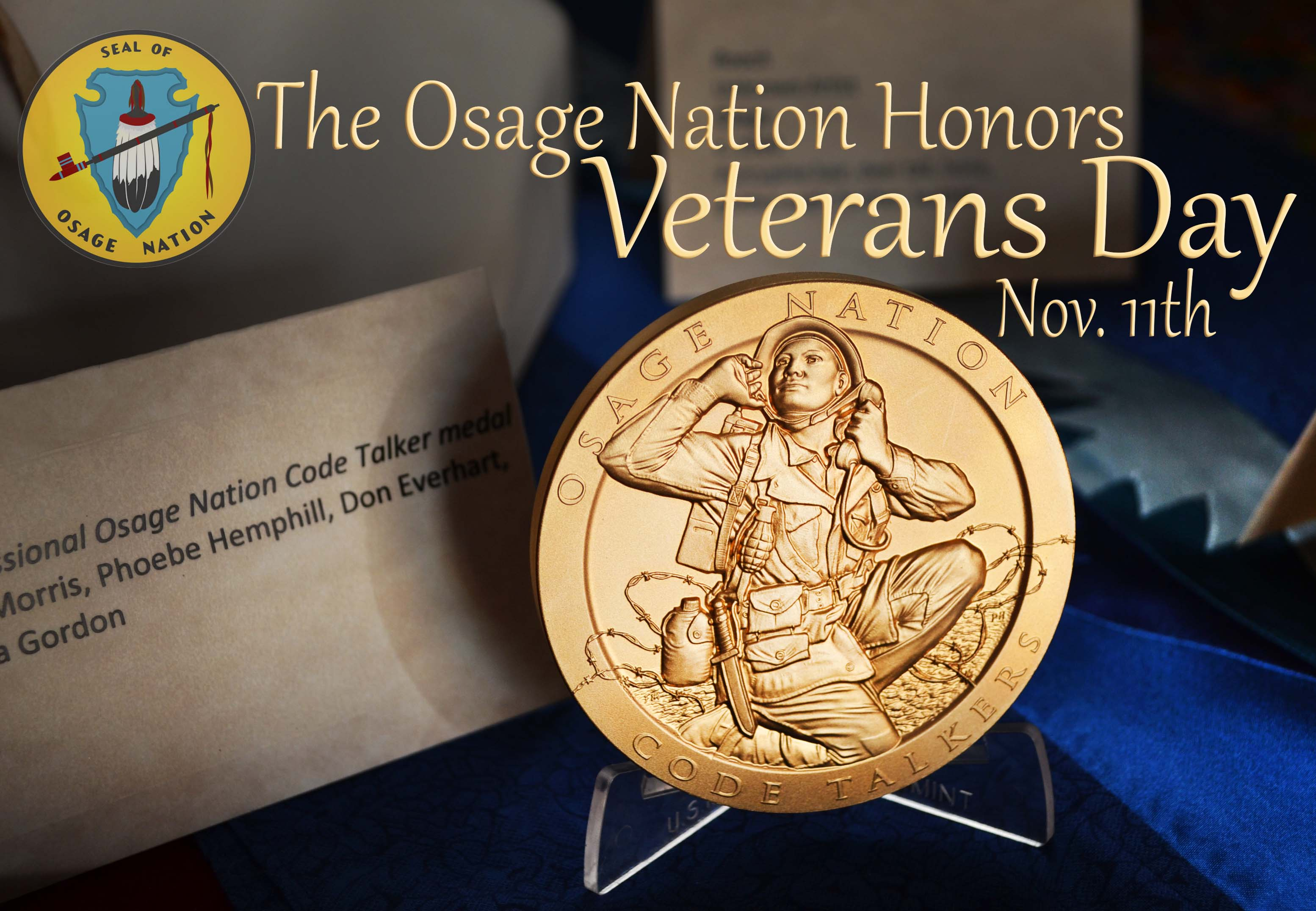 Granddaughter of WWI Osage Code Talker to receive medal at Veterans Day dance