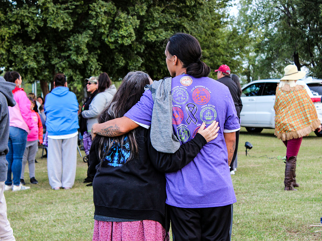 Six Nations Domestic Violence Walk strives to educate children about non-violence