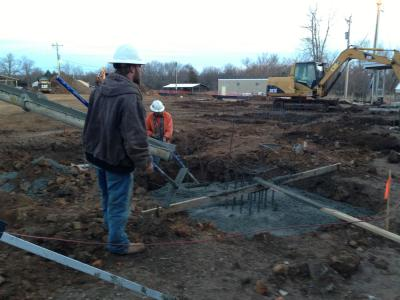 Grayhorse roundhouse construction underway