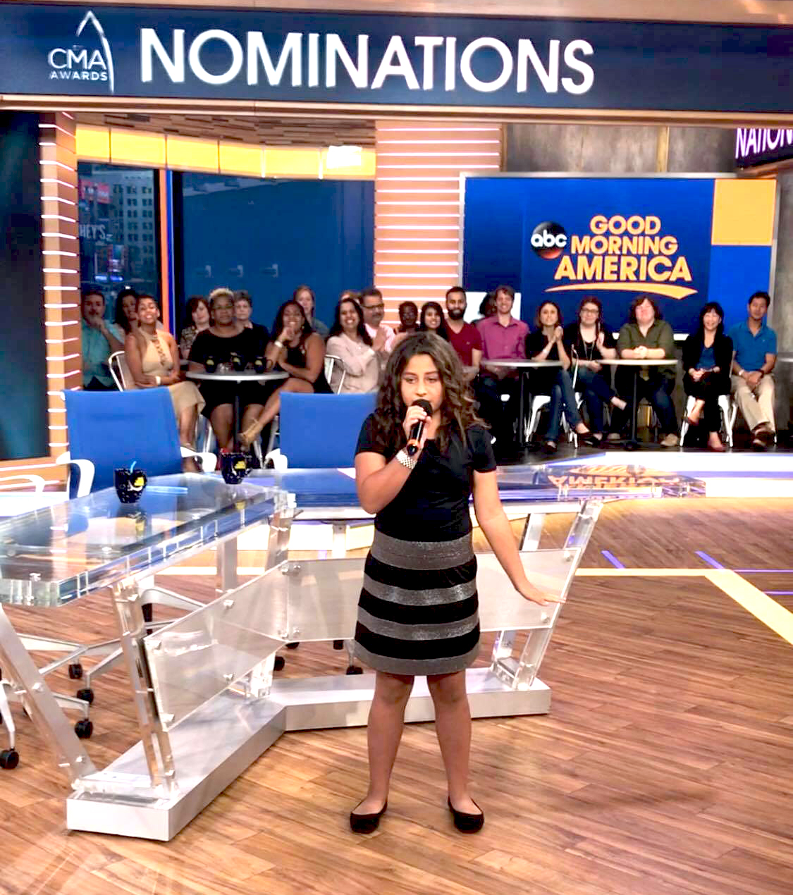 Young Osage singer wows crowd at Good Morning America studio