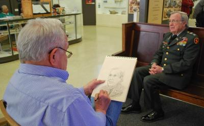 Osage artist gives elixir of youth to U.S. Veterans