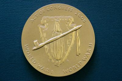Bronze coin replica of Osage Code Talker Gold Medal available for sale