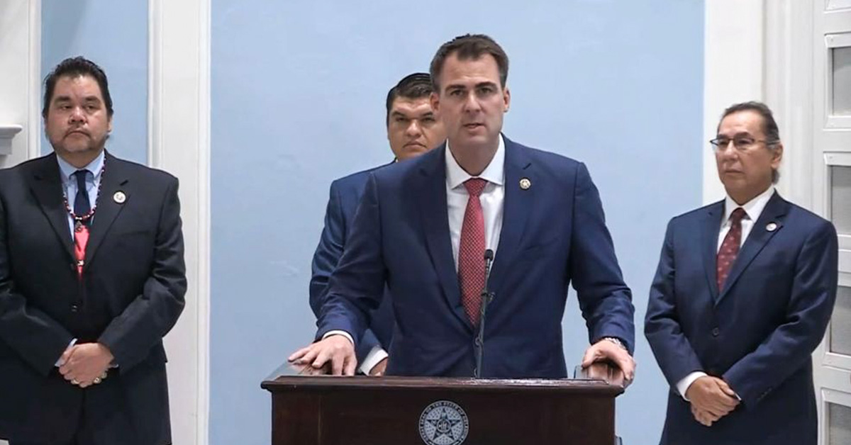 OK legislature challenging Gov. Stitt over two tribal gaming compacts