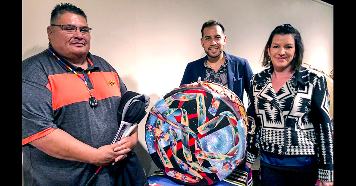 Foundation's drum exhibit featured at Indigenous Film and Arts Festival