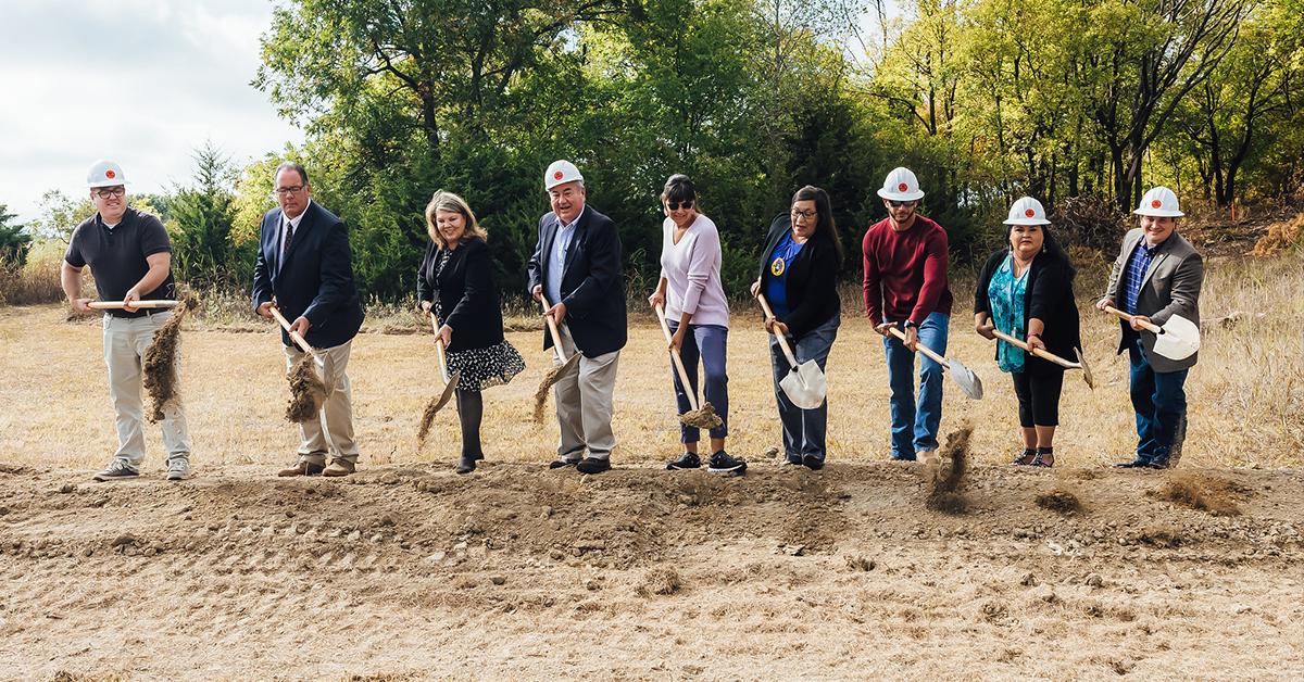 Osage Nation breaks ground on Fairfax Senior Housing Complex