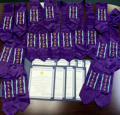 Second Osage Nation Congress sends certificates and sashes to Osage graduates